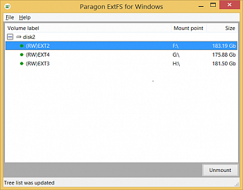 Paragon ExtFS for Windows картинка №6831