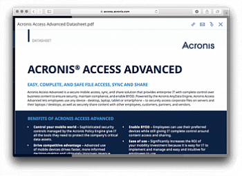 Acronis Access Advanced картинка №8863