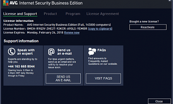 AVG Internet Security Business Edition картинка №5385