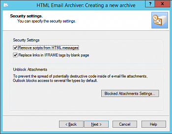 MAPILab HTML Email Archiver for Outlook картинка №9097